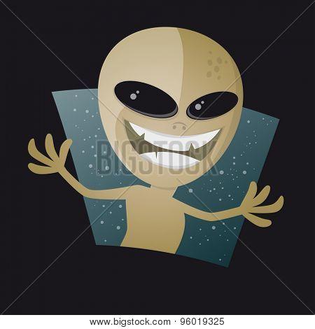 funny cartoon alien