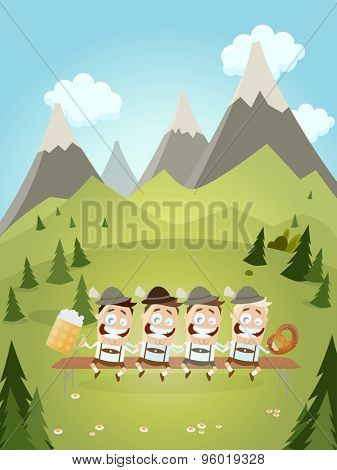 funny bavarian party background