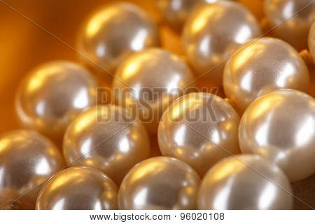 Heap Of Pearl In Warm Colour
