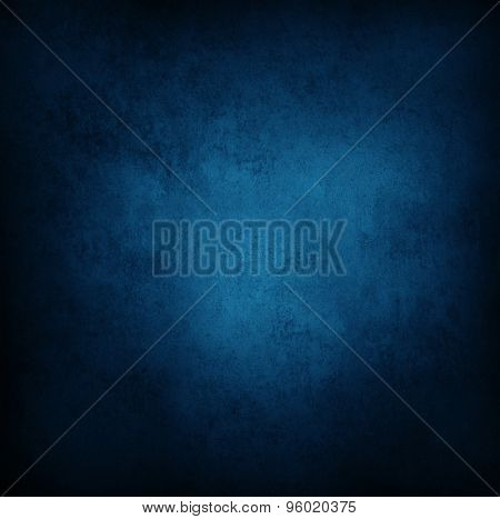 Closeup of blue grunge wall