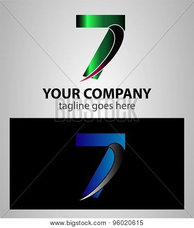 Number one 7 logo icon design template elements
