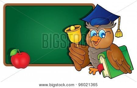 Owl teacher theme image 8 - eps10 vector illustration.