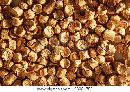 Wooden Pellets As Background