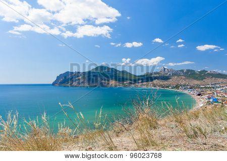 View Of Beach In Koktebel. Crimea