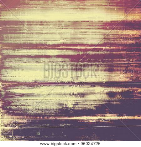 Antique vintage textured background. With different color patterns: yellow (beige); brown; purple (violet); pink