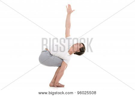 Variation Of Chair Yoga Pose