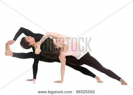 Yoga With Partner, Vishvamitrasana