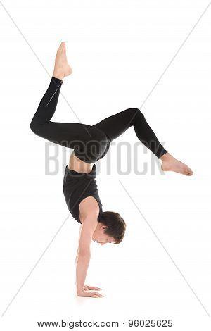 Handstand With Bent Legs