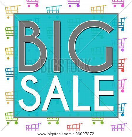 Big Sale Shopping Cart Texture
