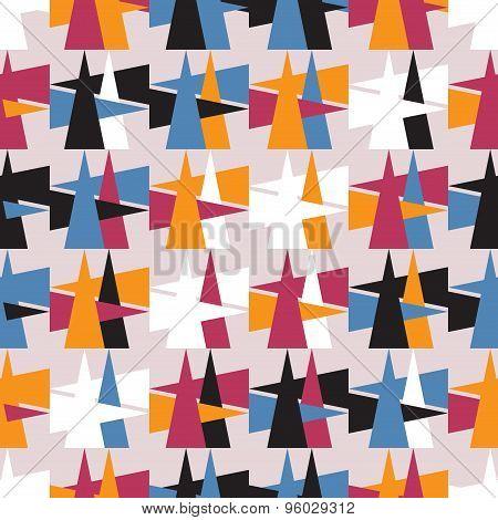 Bright Colorful Geometric Seamless Pattern