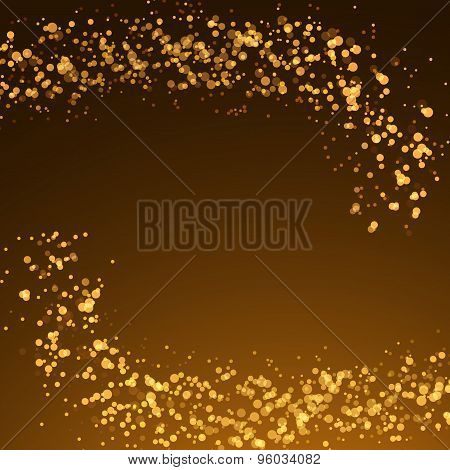 Magical Christmas Glittering Abstract Background