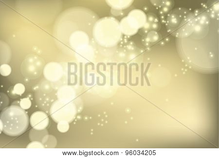 Bokeh Shiny Brocade Lights Vector Background