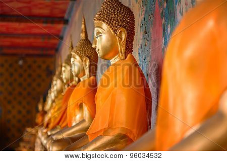 Buddha Statue at Wat Arun - the Temple of Dawn in Bangkok, Thailand