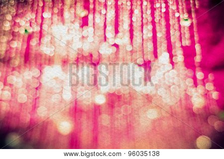 Blurred Pink Textile With Strasses Retro