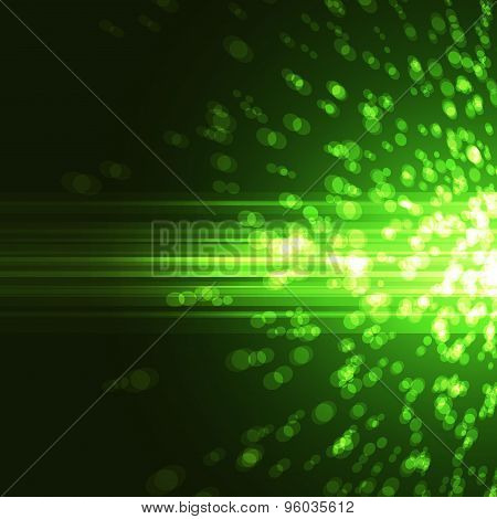 Bright Green Abstract Party Background