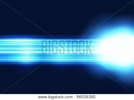 Bright Blue Straight Line Abstract Shine Background