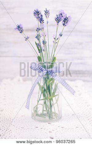 Lavender in bottle