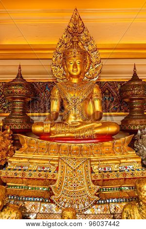 Buddha Statue at Wat Saket - The Golden Mountain Temple (Phu KHao Thong) in Bangkok Thailand