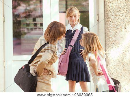 Three schoolgirls