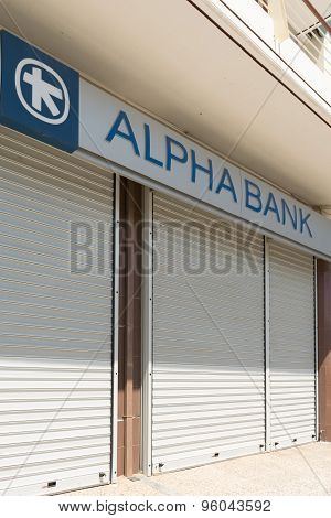 Athens, Greece, 13 July 2015. Banks are closed because of the economical crisis in Greece.