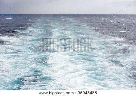 Ship Wake On The North Atlantic