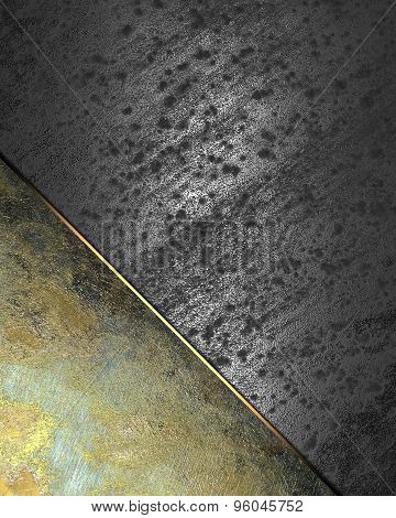 Background Of Metal Plates For The Label Text. Element For Design. Template For Design. Abstract Gru