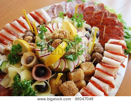 Delicatessen, Cold Cuts, Buffet,