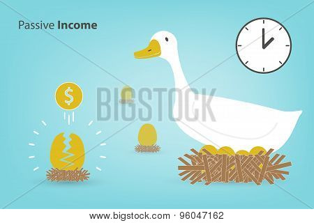 The Goose With The Golden Eggs (investment Concept Vector Eps10)