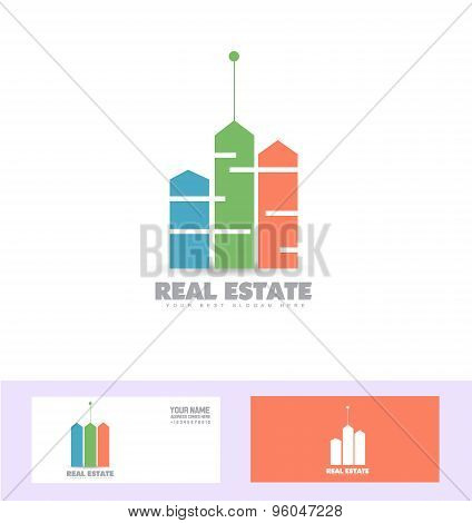 Real Estate Colors Logo Icon