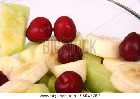 cherry, banana, melon
