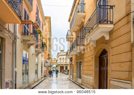 Day View Of Downtown In Marsala, Italy