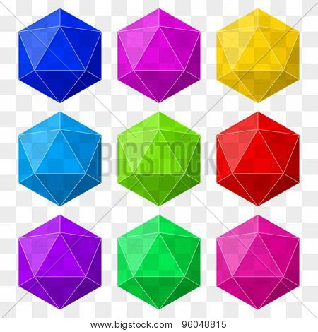 icosahedron with transparency.