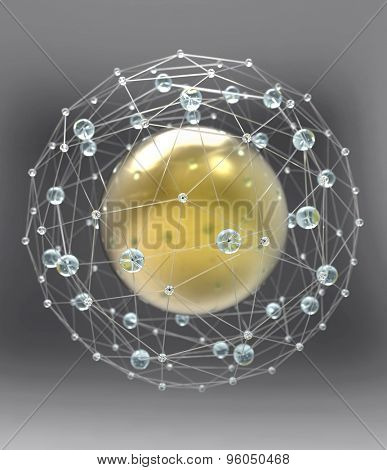 spherical network structure