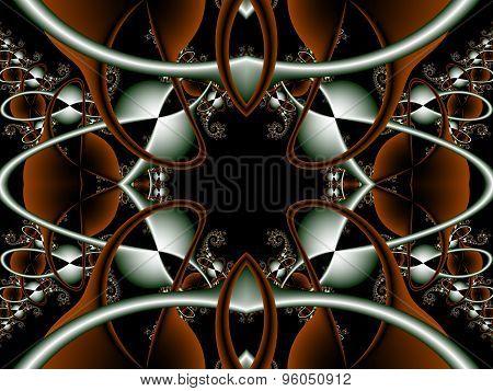 Futuristic Background In ??ch Concept. Computer Generated Graphics. Artwork For Creative Design, Art