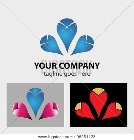 Business Corporate Abstract infinity vector logo design template