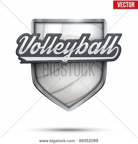 Premium symbol of Volleyball label