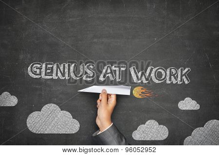 Genius at work concept