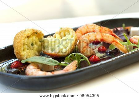 Risotto And Prawns