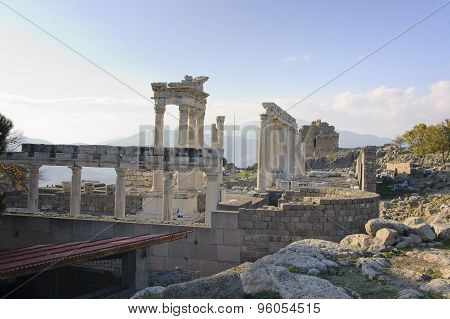 Temple Of Trajan In Pergamon