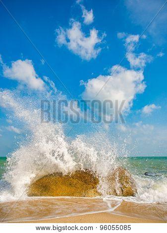 Landscape of Lamai beach Koh Samui island in Thailand