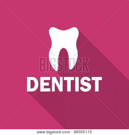 dentist flat design modern icon with long shadow for web and mobile app