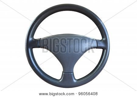 Steering Wheel Isolated On White Background