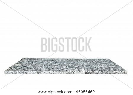 Top Of Natural Stone Table Or Counter Isolated On White