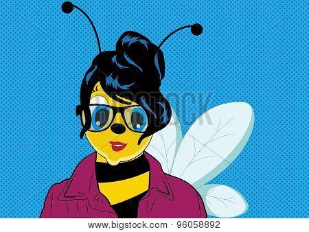 Pop Art Woman Bee