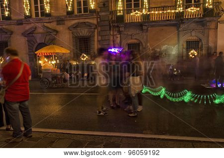 Blurry Vision Of Festivity Of Luminara
