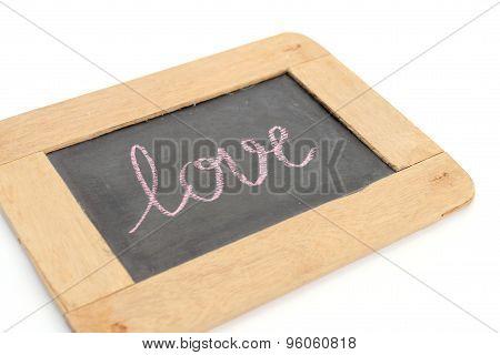 Letter Love Write On Chalkboard