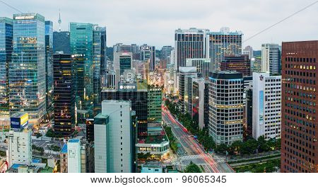 Aerial view of Jongno-Gu district. Seoul