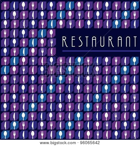 Background Menu Restaurant Icon Set Purple