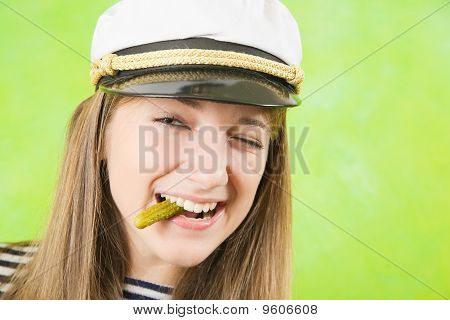 Female Sailor With  Pickle