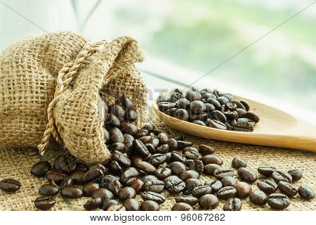 Heap Of Fresh Coffee Bean